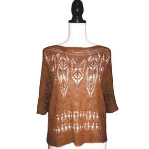 MOTH Of The Ages Anthropologie Crochet Pullover
